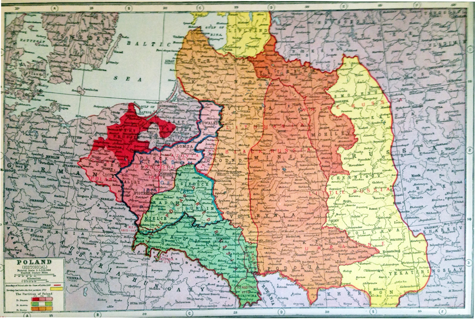 Lomza Poland Map.1920 Poland Historical Trowbridge Gallery