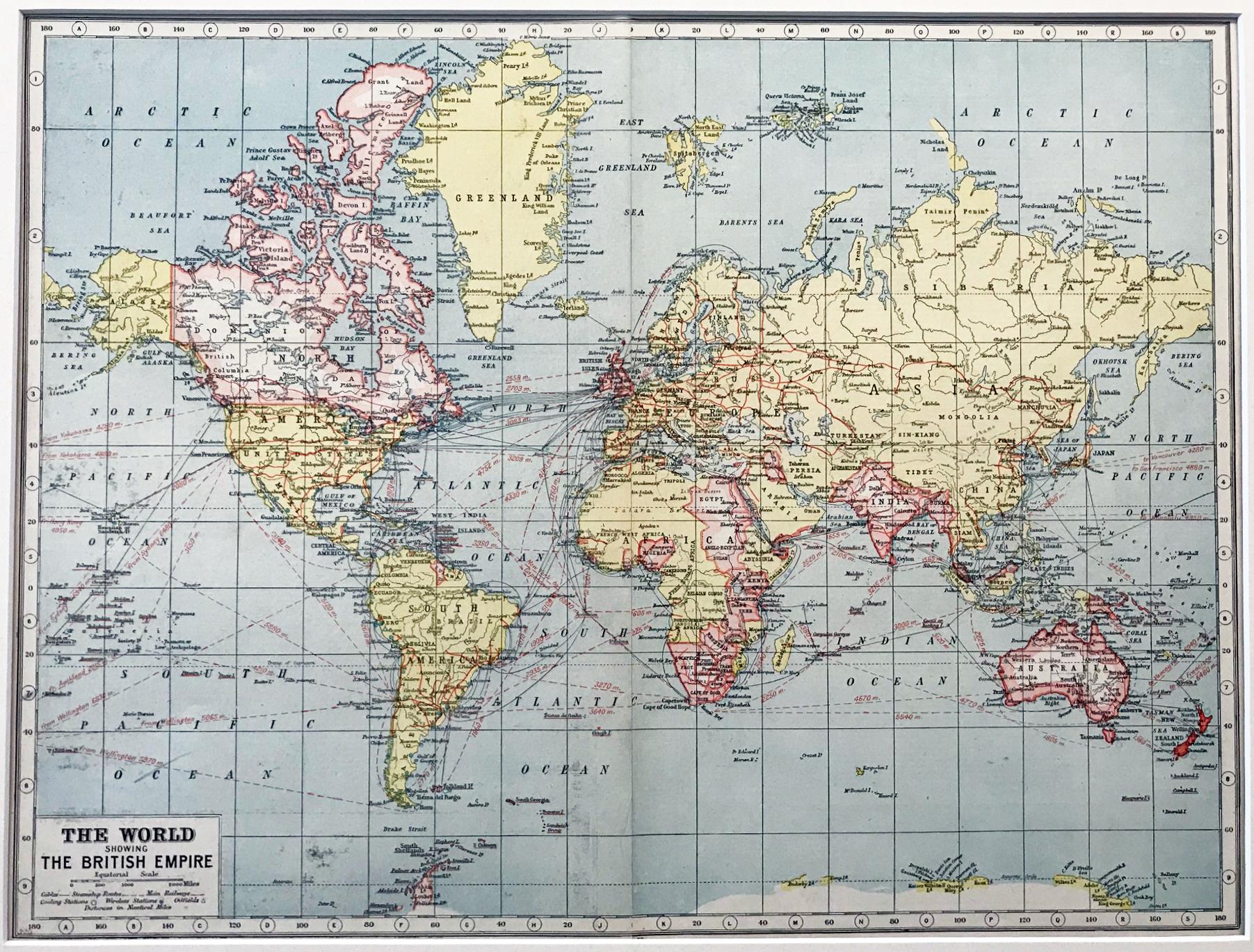 1920 World - Showing The British Empire