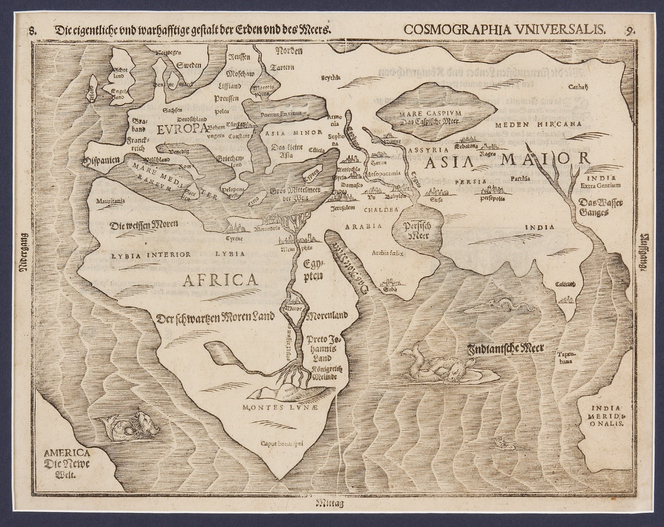 Heinrich Bunting Rare World Map